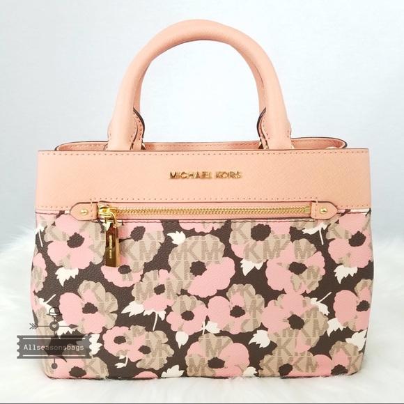 386cddc38f401e ... switzerland nwt michael kors hailee xs satchel floral coral fbf45 88026